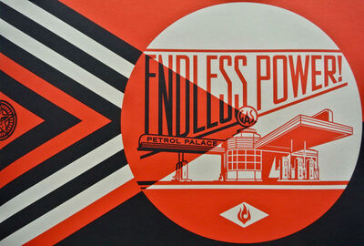 Shepard Fairey, 'Endless Power Petrol Palace Red', 2019