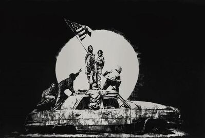Banksy, 'Flag (Silver) - Unsigned', 2008