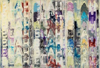 Mel Bochner, 'Blah, Blah, Blah', 2012