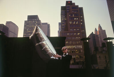 Hervé GLOAGUEN, 'Andy WARHOL with silver balloons at the roof of Chelsea Hotel, NY 1966', 1966