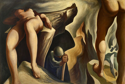 Lorser Feitelson, 'Post Surreal Configuration: Eternal Recurrence', 1939-1940