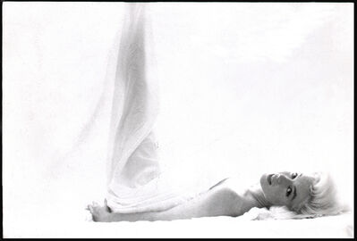 Bert Stern, 'Marilyn Monroe: From the Last Sitting (In bedwithleg up)', 1962