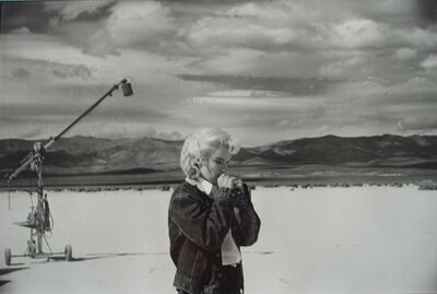 Eve Arnold, 'Marilyn Monroe rehearsing on Nevada Desert during filming of the Misfits', 1960
