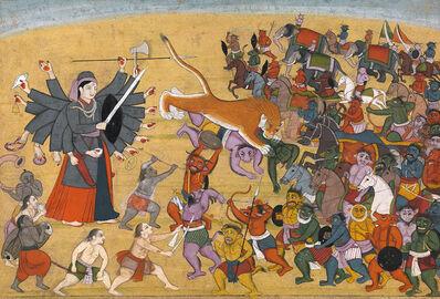 Unknown Artist, 'Goddess Chandika battles the Army of Mahishasura', ca. 1790