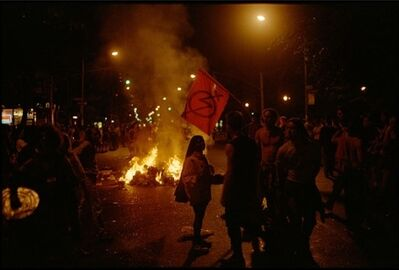 Clayton Patterson, 'Untitled (fire night riot, Avenue A)'