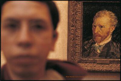 Carlos Gallardo, 'Pixel Terror, Autorretrato con Van Gogh', 1982