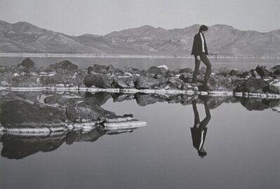 Gianfranco Gorgoni, 'Spiral Jetty and Robert Smithson', 1970