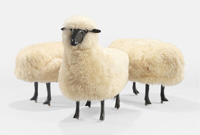 François-Xavier Lalanne, ''Moutons de Laine', A Sheep and Two Ottomans', circa 1965