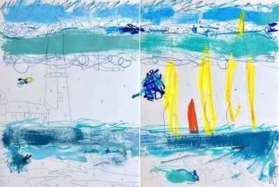 Trey Speegle, 'Abstract Lighthouse/Sailboats', 2020