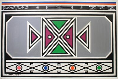 Esther Mahlangu, 'Ndebele Abstract - C001965', 2019