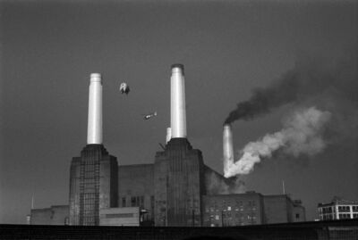 Carinthia West, 'Pink Floyd Animals, Animals Cover Shoot, Battersea Power Station, London,', 1976