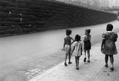 Helen Levitt, 'N.Y.C. (girls with bubbles)', ca. 1940