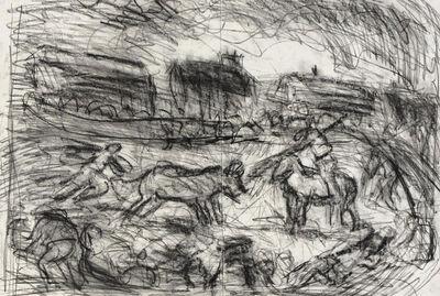 Leon Kossoff, 'Bullfight in a Village', 2001