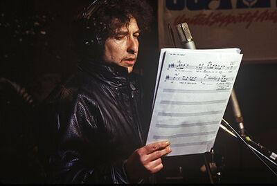 Harry Benson, 'Bob Dylan, USA for Africa', 1985