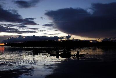 Attila Lorant, 'Piaora Boat on the River, At Sunset', 2005