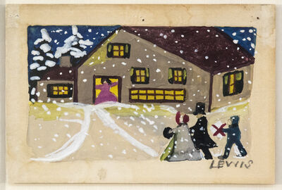 Maud Lewis, 'Christmas Card', Mid-20th Century
