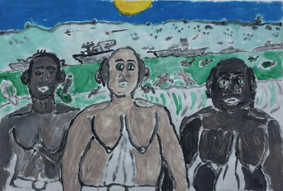 Raynes Birkbeck, 'Boys on the Beach', 2018