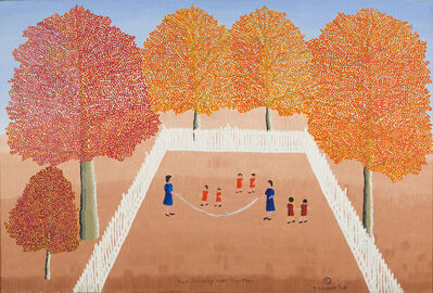 Theora Hamblett, 'Two Jumping Rope Together', 1968