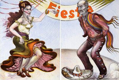 Luis Jimenez, 'Fiesta (Diptych)', 1986