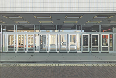 Richard Estes, 'Ten Doors No. 1 from Urban Landscapes: 1972', 1972