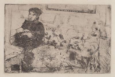 Mary Cassatt, 'Interior: On the Sofa', ca. 1883