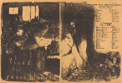 Édouard Vuillard, 'Lisez la revue blanche;  Un nuit d'Avril Ceos, L'image', 1894