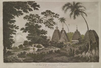 William Hodges, 'A View of the Pagodas of Deogur', 1787