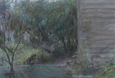 Stephen May, 'Side of the Studio with Garden Bench', ca. 2001