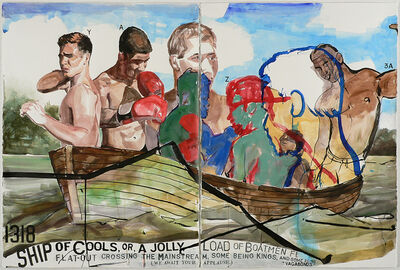 """Jack Balas, 'Ship of Cools, or, A Jolly Load of Boatmen Flat-Out Crossing the Mainstream, Some Being Kings, and Some Being """"Vagabonds"""" (We Await Your Applause) (#1318)', 2016"""