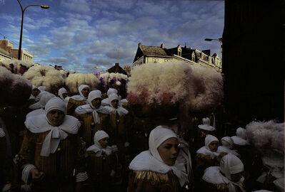 "Harry Gruyaert, '""Gilles"" carnival, La Louvière, Province of Hainaut, Belgium', 1981"