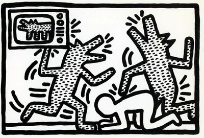 Keith Haring, 'Keith Haring '6 Lithographs' announcement card, 1982', 1982