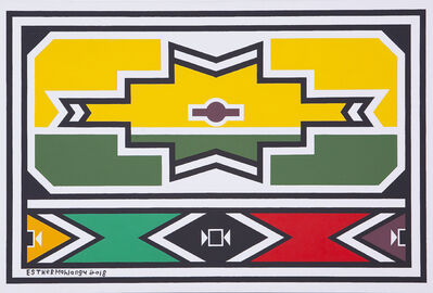 Esther Mahlangu, 'Ndebele Abstract - C000857', 2018