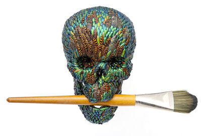 Jan Fabre, 'Skull with brush (artificial hair)', 2015