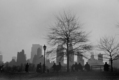 Ruth Orkin, 'Central Park South Silhouette, NYC', 1955