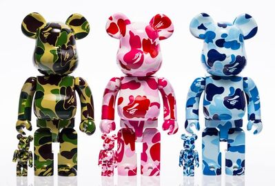 BE@RBRICK X BAPE, 'ABC Be@rbrick 400% and 100%, set of three', 2017