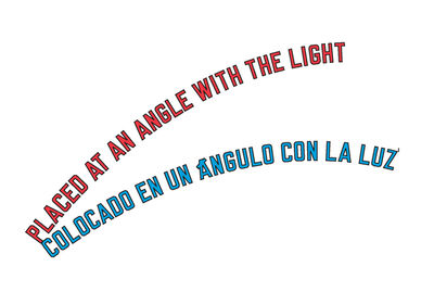 Lawrence Weiner, 'PLACED AT AN ANGLE WITH THE LIGHT', 1999