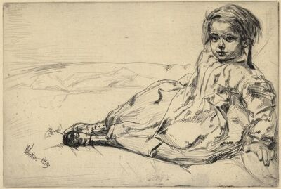 James Abbott McNeill Whistler, 'Bibi Valentin.', 1859