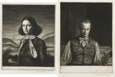Gerald Leslie Brockhurst, 'Dorette, 1932 and Henry Rushbury, 1930'