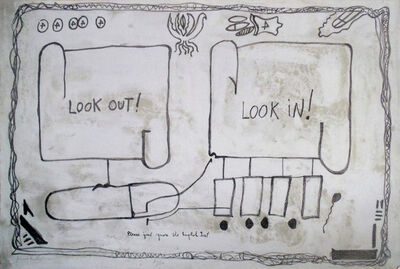 Jimmie Durham, 'Look Out, Look In', 1992