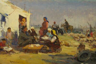 Aleksandr Nikiforovich Chervonenko, 'Working in the fields', 1980