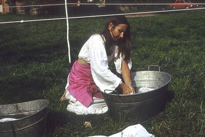 Maria Pinińska-Bereś, 'Laundry II, Osieki near Koszalin, summer 1981', 1981