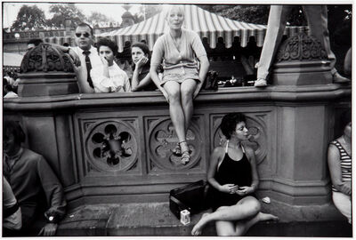 Garry Winogrand, 'Untitled from Women are Beautiful Series (Blonde Woman Sitting on Parapet)', 1975-1985