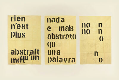 Guillermo Daghero, 'Nada é mais abstrato que uma palavra / Nothing is more abstract than a word', 2019-2020