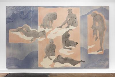 Matthew Lutz-Kinoy, 'Six bathers with shadows', 2019