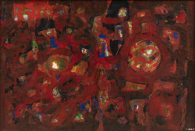 Nam Kwan, 'Composition en rouge', 1963