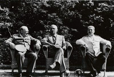 Yevgeny Khaldei, 'Stalin, Truman and Churchill. Potsdam Conference', 1945