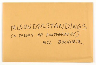 Mel Bochner, 'Misunderstandings (A theory of photography)', 1970