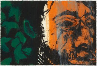 Hughie O'Donoghue, 'Green man (c) IV', 2015