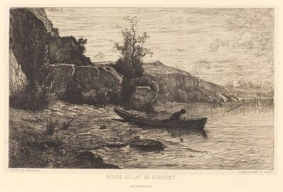 Adolphe Appian, 'Bords du lac du Bourget', 1866