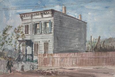Reginald Marsh, 'Untitled (man walking in front of house)', 1935